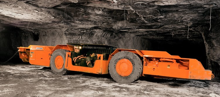 Joy underground mining battery hauler