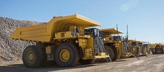 Komatsu mining trucks