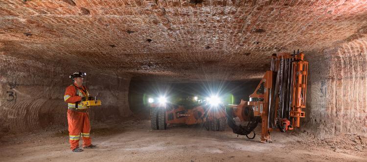 Mining potash