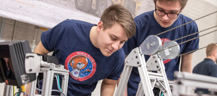 MSOE team at NASA Annual Robotic Mining Competition