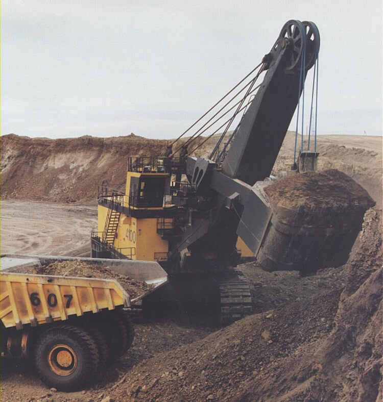 P&H 4100 series electric rope shovel