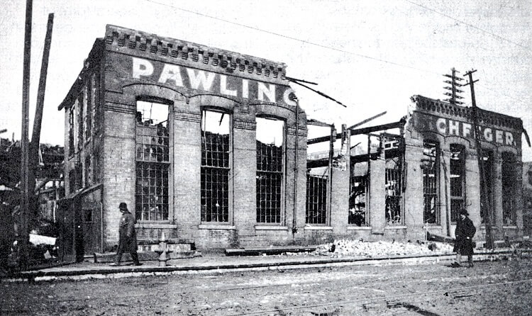 P&H foundry destroyed in a fire in 1903