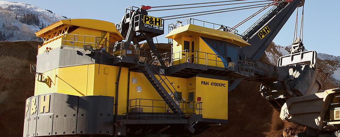 P&H, Surface mining, electric Shovel