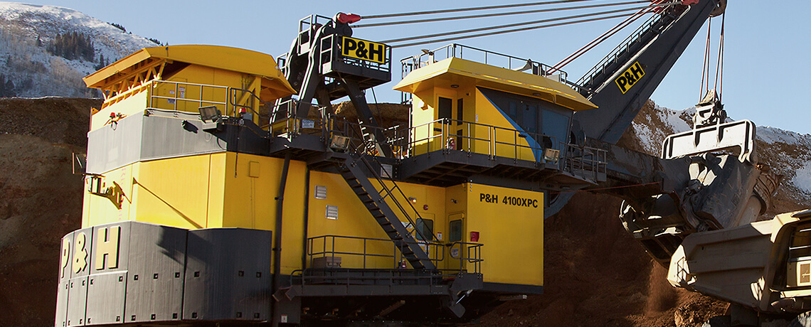 P&H, Surface mining, electric Shovel