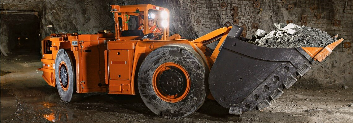Underground truck for hard rock mining