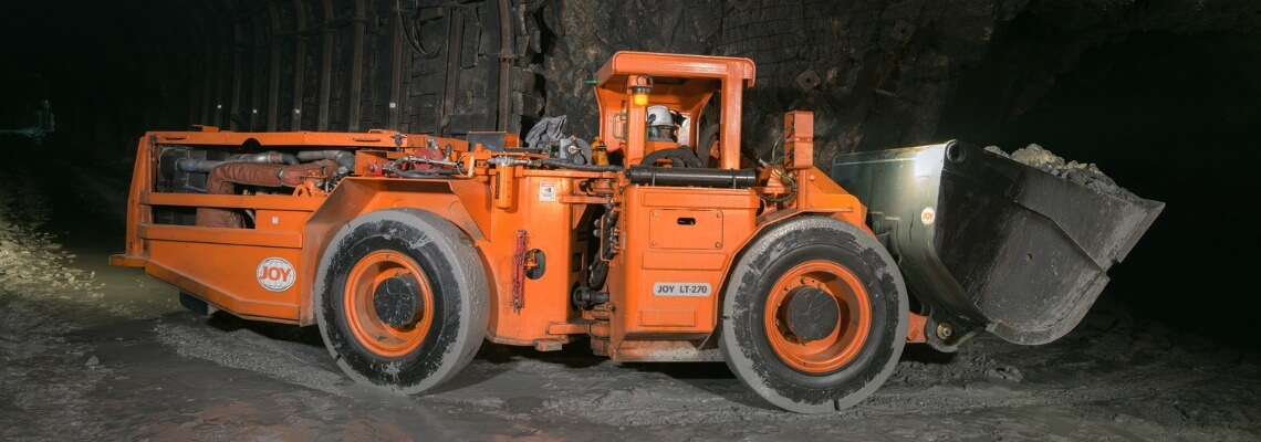 Load haul dump (LHD) in underground mine