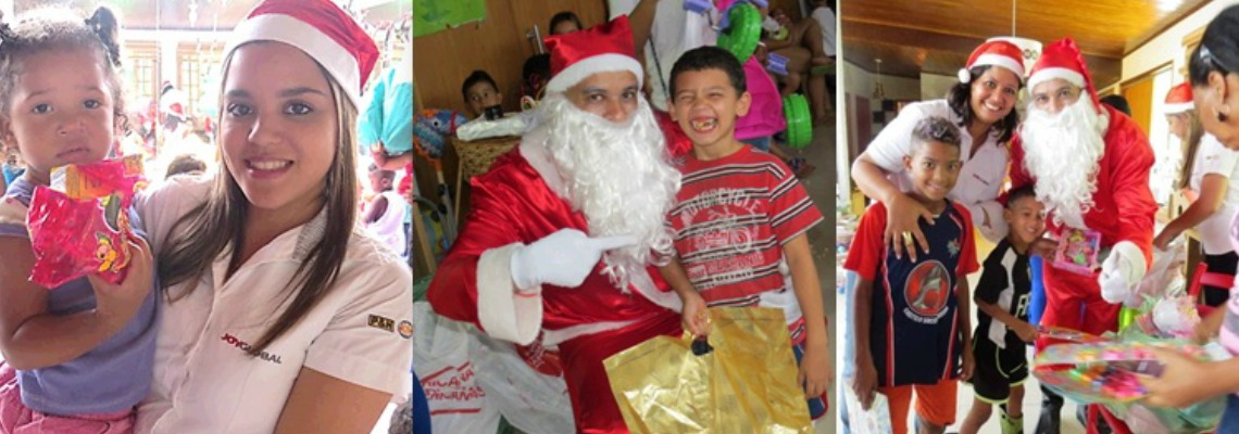 Joy Global, Community Relations, Santa in Brazil