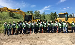 Anglo American and Komatsu planting on formerly mined lands