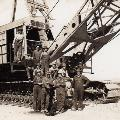 P&H service crew on dragline in 1934