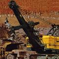 P&H 1900 electric rope shovel in 1966