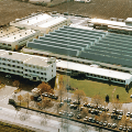 Montabert's new factory and building in Saint Priest, France in 1976
