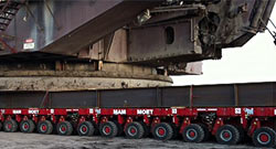 Joy Global, Technical and field services, Dragline services, Dragline Relocation Services, preview