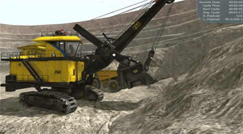 Joy Global, Technical and field services, shovel demo