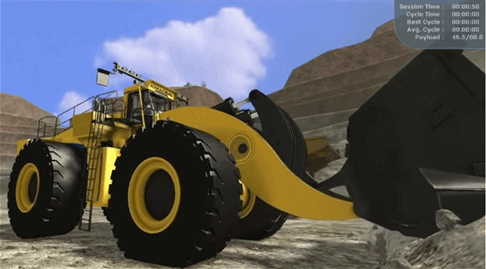 Joy Global, Technical and field services, wheel loader demo