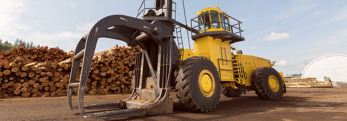 Joy Global, Non-mining, Forestry Log Stackers, 45 series log stacker