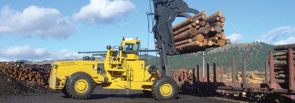 Joy Global, Non-mining, Forestry Log Stackers, 50 series log stacker