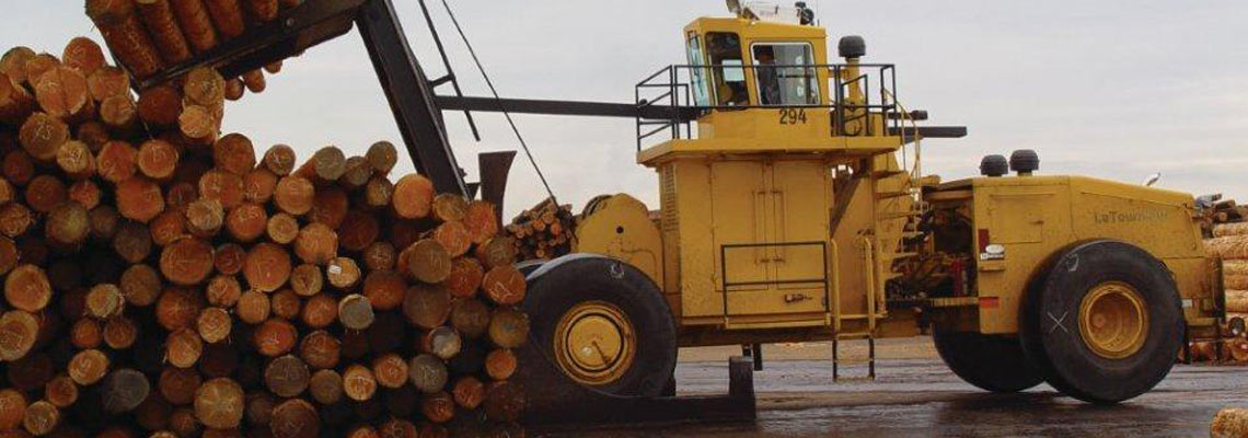 Joy Global, Non-mining, Forestry Log Stackers, 55 series log stacker