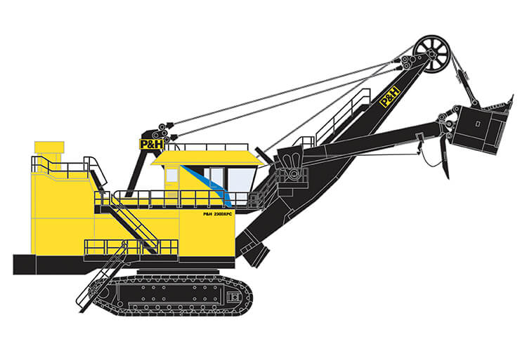 P&H 2300XPC Electric Rope Shovel