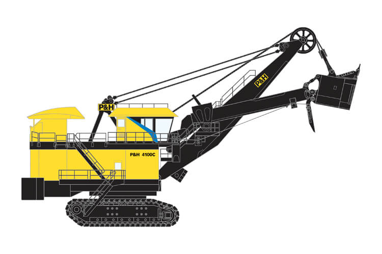 P&H 4100C DC Electric Rope Shovel