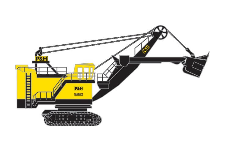 P&H 1900XPC Electric Rope Shovel
