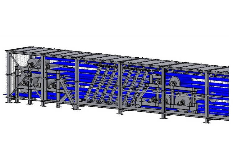 Joy, underground conveyors, belt storage unit
