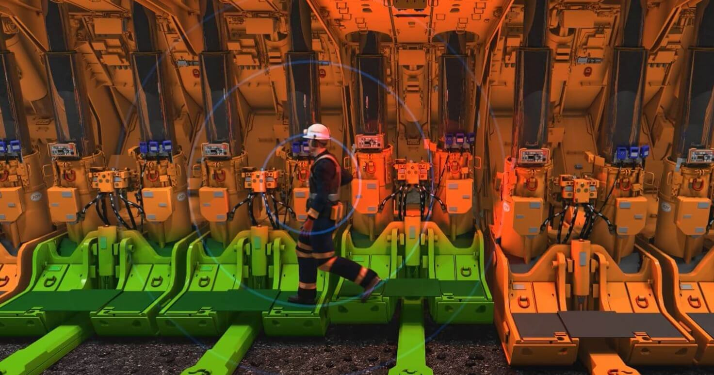 Proximity detection system for longwall mining equipment